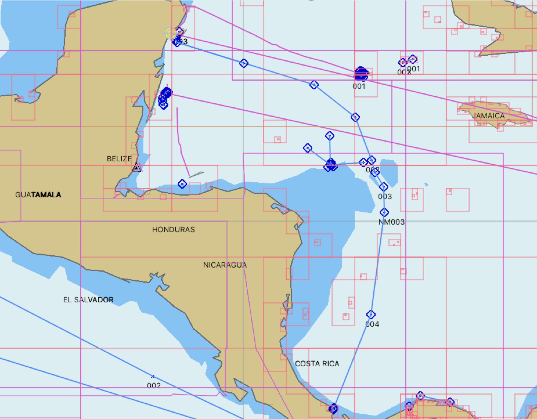900+ nm to Bocas de Toro