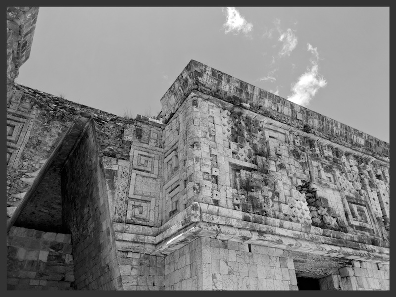 The view of ruins building in Uxmal