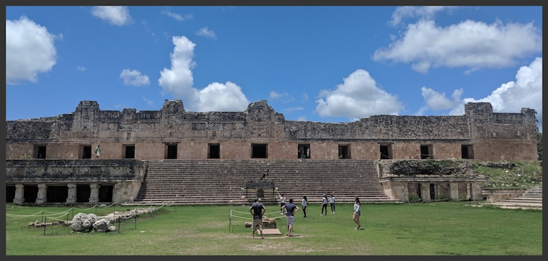 The building in Uxmal
